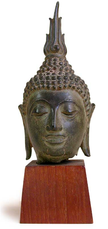 What Is Freight Shipping >> Sukhothai Bronze Buddha Head Fragment