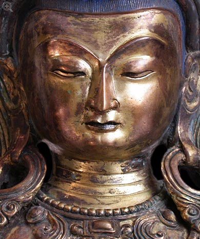 Vajrasattva Face Close Up