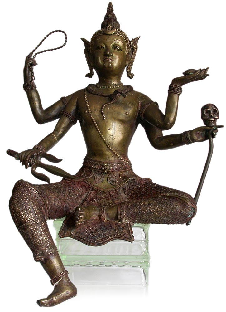 Four-Armed Shiva Statue