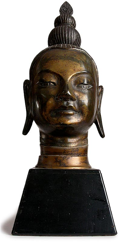 Southeast Asian Bronze Buddha Head