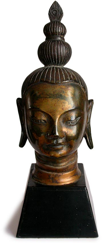 Asian Bronze Buddha Head