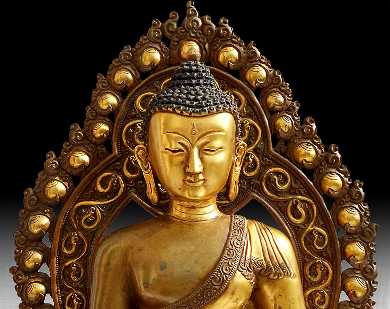 Shakyamuni Buddha close-up