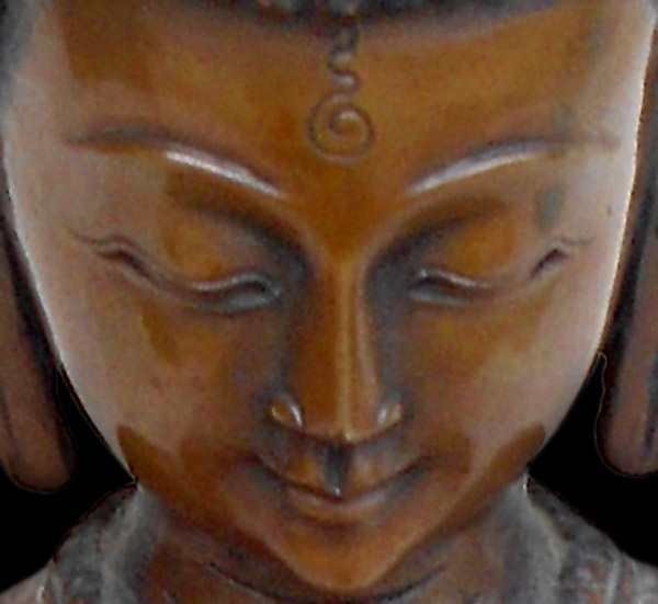 Amitabha Buddha close-up