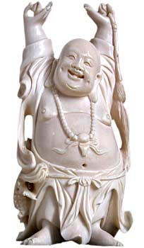 Happy Buddha Carving