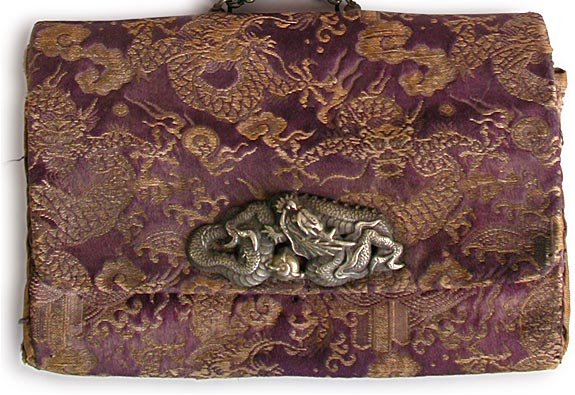 Dragon Menuki silk pouch