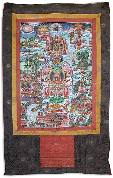 Life of Buddha Thangka