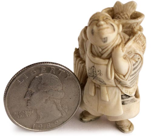 dating netsuke 0017: vintage okimono hand carved cattle bone netsuke, woman est $50 - $60 see sold price 0018:.