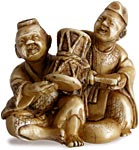 Two Performers Netsuke