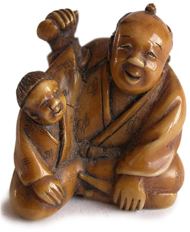 Father Son Netsuke