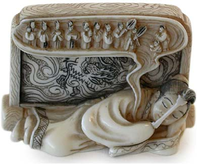 Rosei's Dream Netsuke