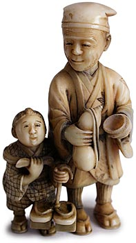 Father and Son Netsuke