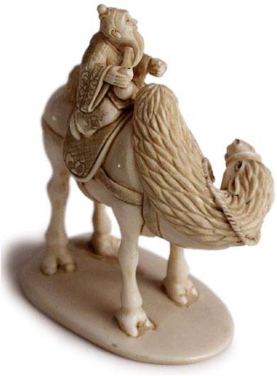 Sage On Camel Netsuke