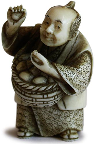 Peddler Netsuke by Meido