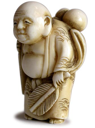 Little Hotei Netsuke lt