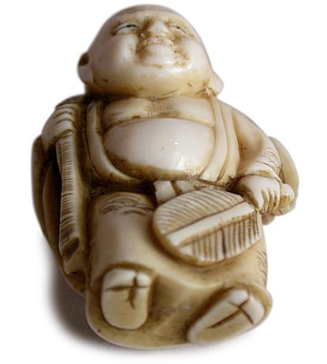 Little Hotei Netsuke bottom