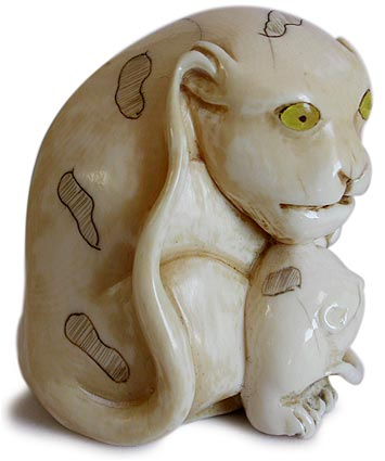 Tigress and Cub Netsuke rt