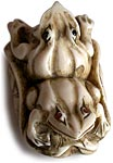 Two Frogs Netsuke