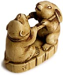 Tug of War Netsuke