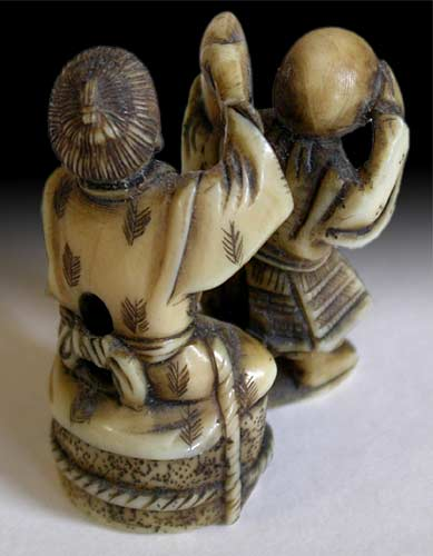Blindmen Netsuke back