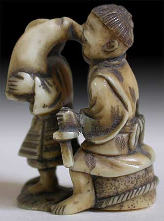 Blindmen Netsuke lt