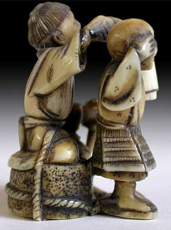 Blindmen Netsuke rt