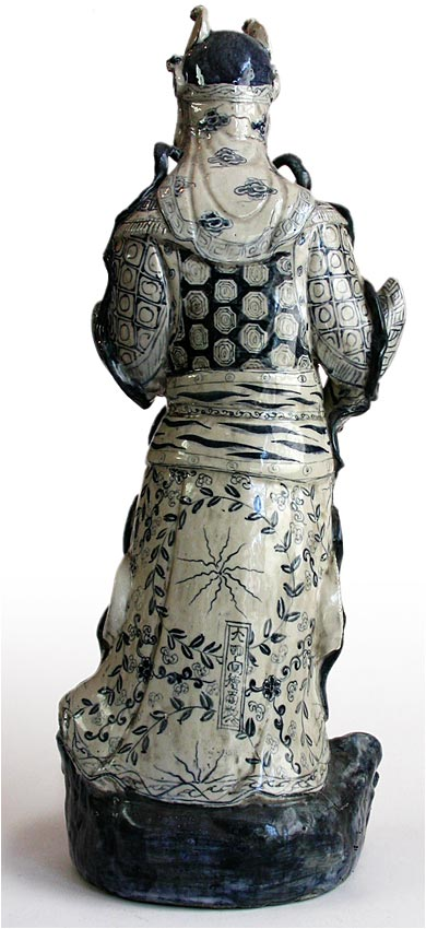 Ming Blue and White Statue