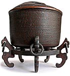 Carved Wood Rice Caddy