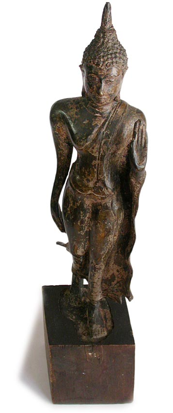 Bronze Walking Buddha