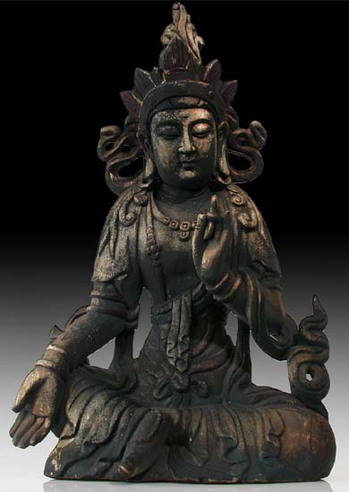 Boon Granting Wood Buddha