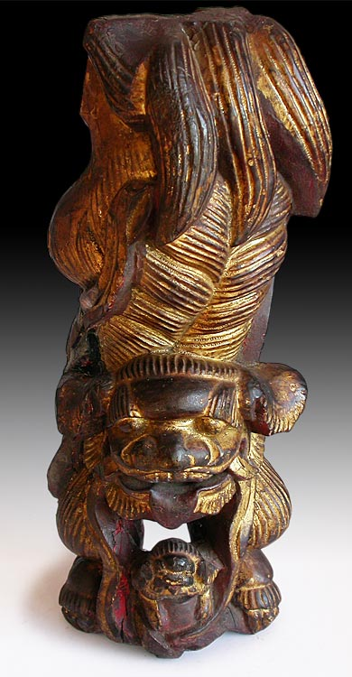 Gilt Chinese Lion Corbel
