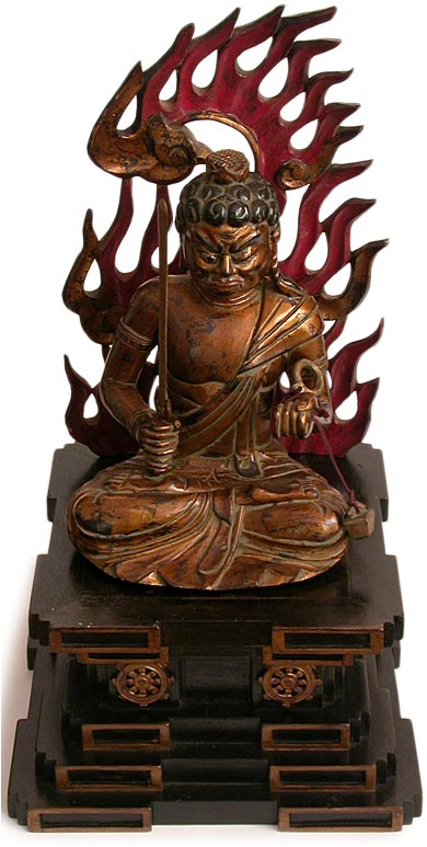 Fudo Myoo Acala Buddha Wood Shrine