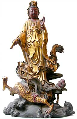 Gilt Wood Kwan Yin