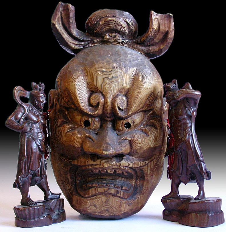Kongo Rikishi Wood Mask