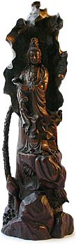 Quan Yin Wood Carving