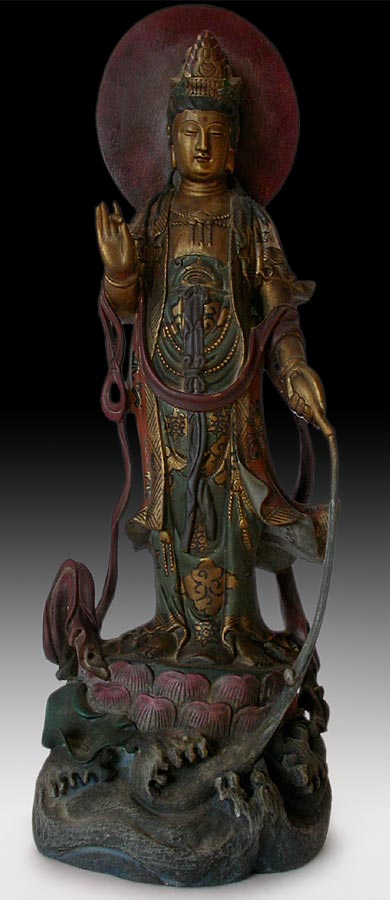Polychrome Water Moon Quanyin