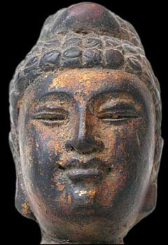 Pagoda Wood Buddha face
