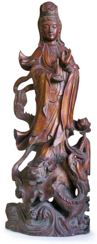 Kwan Yin On Dragon